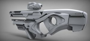 Sci-fi weapon quicksculpt by Chofni1996