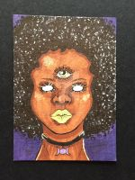 Black is Beautiful Third Eyed Goddess ACEO by brittkay