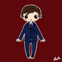 Tenth Doctor Chibi by xoxRufus