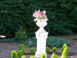 pillar and flowers by WKJ-Stock