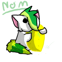 Leafy eating a butter cactus by ilovethehulk