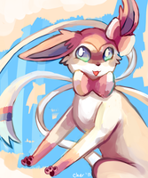 Heavy Metal Sylveon by Cherkivi