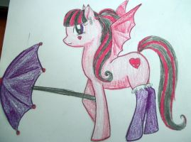 Draculaura Pony by dead-kittens3