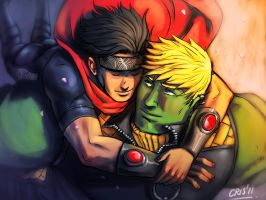 Hug -  Wiccan and Hulkling by Cris-Art