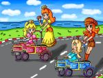 rosalina and mona in Mario Kart Double Dash? by ninpeachlover