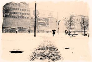 yellow city snow by BobRock99