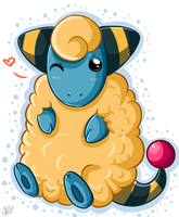 :Marily the Mareep: by Sweetochii