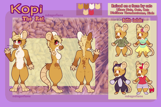 Kopi The Rat's New Reference by Mdragonflame