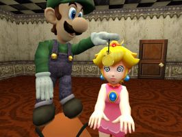 Luigi The Lady's Man: Peach by VG-MC