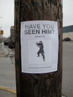 Ninja Lost Sign by murraymullet