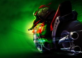 TMNT_raph_bike by SchNe11
