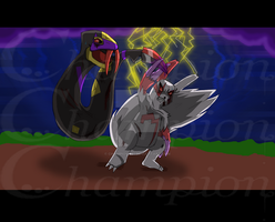 Pokemon- Seviper VS Zangoose by Championx91