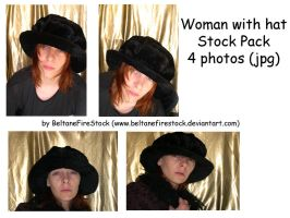 Stock_153: Woman with hat Pack by BeltaneFireStock