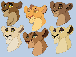 Some versions of Zira's mother by Olphey