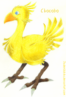 Colored Pencil Chocobo by Ninja-Jaiden