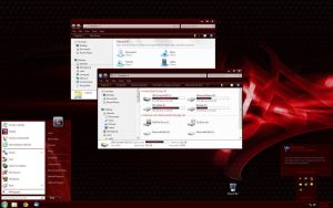 Nightrium Red - Win7 Basic by Nitrium-Oxide