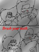 Shadic ever try to bite people? by TailsicaTFox