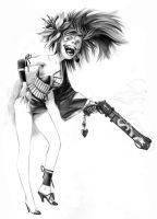 Alex's Crazy Smile chick. by ChaseConley