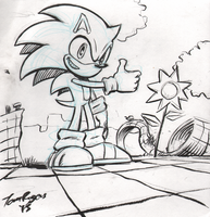 Sonic sketch by mistermuck