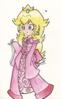 Pretty Princess Peach (redrawn) by beckyboc