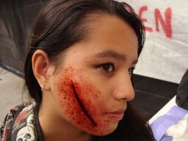 Cut on face. by fontenelefx