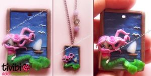 FIMO ~ mermaid frame by tivibi