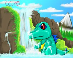 Shiny Totodile by Pand-ASS