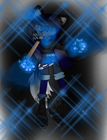 .:~Caroline the Blue Flame Wolf{Contest Entrie}~:. by xXTaylorTeenWolfXx