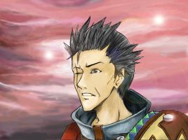 Sir Auron: Sunset by Azurith