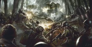 March of War Centerpiece Artwork by daRoz