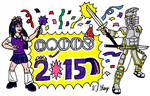 Toa And Pony New Year Celebration 2015 by StealthNinja5