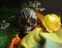 Skull Still-Life by damie-m
