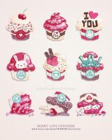 /// Bunny Love Cupcakes /// by guava