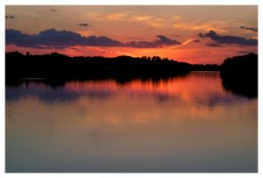 Riverscape Sunset by BrianWolfe