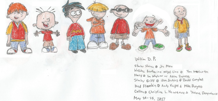 Stanley Wallabee and other Boy Cartoon Characters by WillM3luvTrains