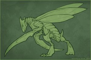 Scyther by LhuneArt