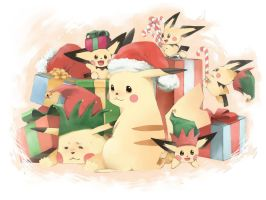 Pikachu Christmas 2012 by lonerurouni187