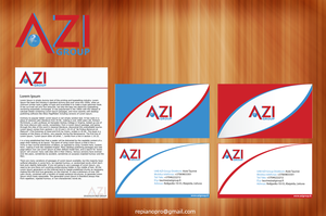 Azi Group Logo VisitCard Blank by repiano