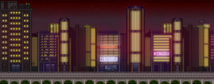 Middle Ground City - Night by saturnthereploid