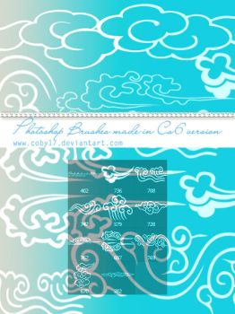 Oriental Elements:Clouds Photoshop Brushes by Coby17