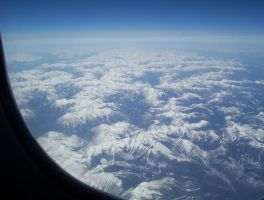 Mountain View From Airplane by xkaiosx