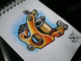 Tattoo Machine Flash Design by Frosttattoo