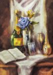 Still Life with Blue Rose by raysheaf