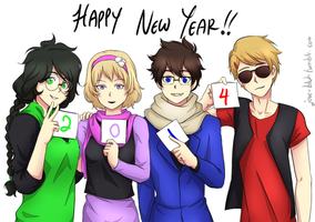 HS - Happy 2014 by feshnie