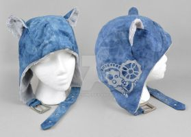 Steampunk Aviator Cap - The Tinkerer by SewDesuNe