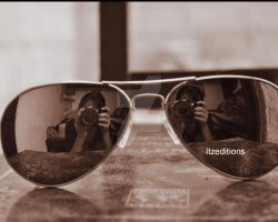 Me Glasses Sepia by Itzeditions