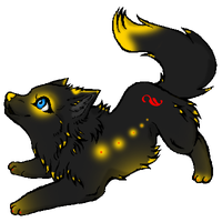 Glowing Wolf Adopt by Darketh90