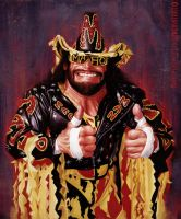 Macho Man Randy Savage by Bigboithomas84