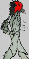 Anthro Wolf all Alone by tygerfox