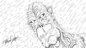 Beast Man In The Rain by djneckspasm